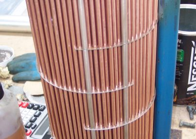 Retubing CAT Oil Cooler